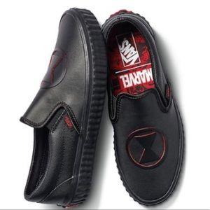 VANS MARVEL Slip-On shoes BLACK Super Hero Fun